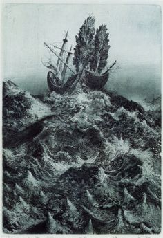 Engraving by Albin Brunovsky