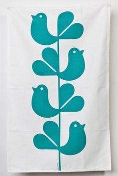 Woodstock Print Tea Towel I Rachel Powell