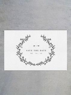 シンプルだけど、小さなセンスがしっかりと光っている、活版印刷の「Save the dateカード」 Save the dateカードとは、招待状よりも早く「あなたに是非来てほしいので、この日を空けておいて」ということを伝えるためのカード。招待状は約3ヶ月前に送りますが、Save the dateカードは、1年前~半年前に送ります。欧米では一般的で、最近は日本でも送る人が増えてきているのだとか。