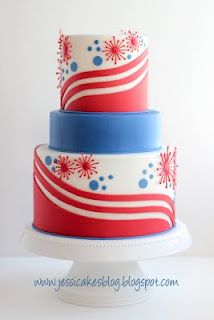 Another spin on a 4th of July cake - she has great tutorials on her site for cake decorating as well.
