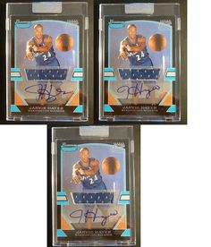 #auction 3 Card LOT 2003-04 Bowman Signature Jarvis Hayes Rookie Auto Graph Jersey /1250 #autographs #basketball #cards #ebay @ebay @bowmancards
