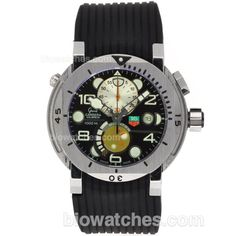Tag Heuer Grand Carrera Calibre 36 Working Chronograph with Black Dial-Rubber Strap