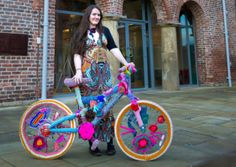 Cassandra Kilbride and the Woolly Bikes project for the Yorkshire stage of the Tour De France 2014, Leeds.