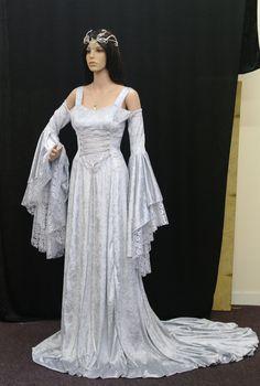 Medieval Wedding Dresses | Renaissance medieval handfasting wedding dress by camelotcostumes