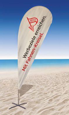 Fahnen Kreisel Beachflag mit Schrift
