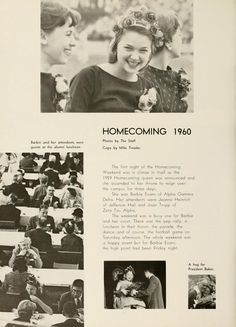 Athena yearbook, 1960. Homecoming of year 1959.