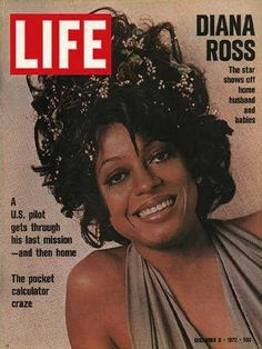 "December 8, 1972 issue ~ Diana Ross ~ ~ Old Life Magazines ~ Click image to purchase. Enter ""pinterest"" at checkout for a 12% discount."