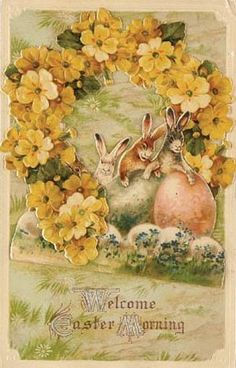 As promised, more vintage Easter postcards. Vintage Easter, Vintage Holiday, Easter Illustration, Easter Greeting Cards, Easter Pictures, Vintage Cards, Vintage Postcards, Vintage Images, Easter Art
