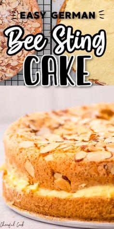15 Minute Desserts, No Bake Desserts, Just Desserts, Baking Recipes, Cake Recipes, Dessert Recipes, German Desserts, German Recipes, German Bee Sting Cake