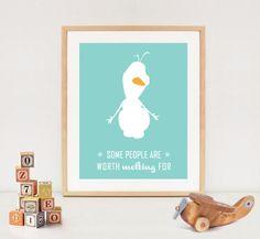 Olaf Frozen quote - Nursery digital art - Frozen printable wall art - INSTANT DOWNLOAD