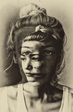 Brett Walker, Untitled, 2013 Photomontage, Self Image, Ap Art, Picasso, A Level Art, Gcse Art, Avatar, Art Inspo, Double Exposure