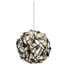 Gluttony by Luis Luna, Amazing Xrayesque Lighting upcycled from surplus plastic utensils!