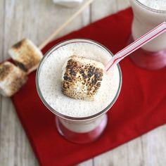 Toasted Marshmellow Milkshakes: 0 marshmallows (plus extra for garnish, if desired) 1 (heaping) cup vanilla ice cream 1/2 cup milk (I used 1 percent) 1/2 teaspoon vanilla extract