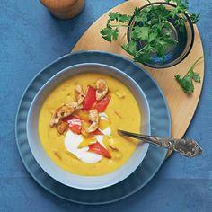 Curry-Hühnersuppe mit Paprika   BRIGITTE.de
