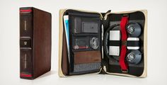 BookBook Travel Journal: a travel case for tablets and gadgets designed to look like a vintage book by Twelve South