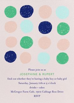 Scribbled Circles by Ashley G for Paperless Post. Design custom gender reveal invitations with easy-to-use design tools and RSVP tracking. View other baby shower invitations on paperlesspost.com