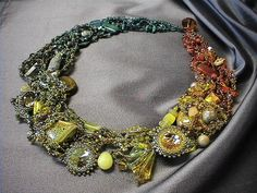 Color Transition Beaded Necklace by TheCreativePalette on Etsy, $795.00