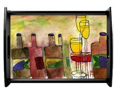 Tuscany Wine  Serving Tray available in 2 sizes by maremade