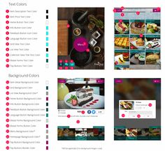 24 different sections for color preferences! Customise your menu with more color options. #tabletmenus #ipadmenus