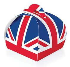 Union Jack Cupcake Carry Box - Single