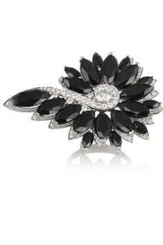 Black spinels, total weight: 19.79-carats; pavé diamonds, total weight: 0.62-carats; diamond, total weight: 0.50-carats This piece has been certified in accordance with the Hallmarking Act 1973 NET-A-PORTER.COM is a certified member of the Responsible Jewellery Council