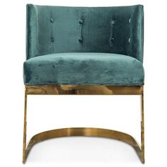 Ibiza Dining Chair in Hunter Green Velvet (50.885 RUB) ❤ liked on Polyvore featuring home, furniture, chairs, dining chairs, velvet furniture, velvet dining chairs, velvet armchair and velvet chairs