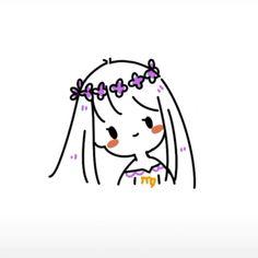 Kawaii Doodles, Cute Kawaii Drawings, Cute Doodles, Kawaii Art, Mini Drawings, Easy Drawings, Cute Couple Art, Dibujos Cute, Human Art
