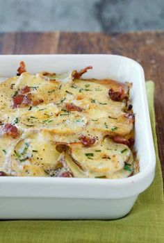 Forget the mashed potatoes. Serve Buttermilk Ranch Potato Gratin, dotted with bits of bacon and topped with Parmesan cheese, as a holiday side dish this year. #ad