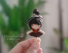 Hello and Welcome to Fairyfinfin Shop, Thanks for visit my shop ---------------------- - Height of doll 5 cm. - Made of 100 % cotton crochet