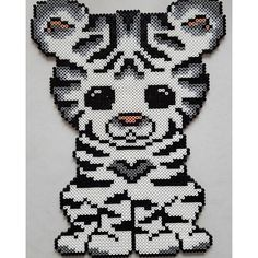White tiger hama beads by misscarstensen - Pattern: https://de.pinterest.com/pin/374291419013031036/