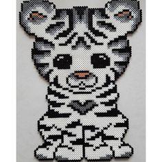 White tiger hama beads by misscarstensen - Pattern: https://de.pinterest.com/pin/374291419013031036/
