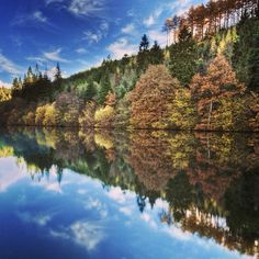 The very beautiful Staintondale Lake found in Dalby Forest, North York Moors