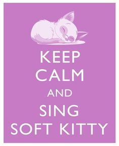 hmm, wonder if everyone knows the soft kitty song