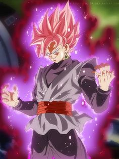 Black Goku Rose by on DeviantArt Goku Black Ssj Rose, Vegeta Ssj Blue, Goku 2, Dbz Vegeta, Dragon Z, Dragon Ball Gt, Dragon Super, Zamasu Black, Art Anime