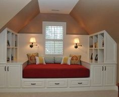 I'm not sure where this came from, J just texted me. But fun bedroom idea.