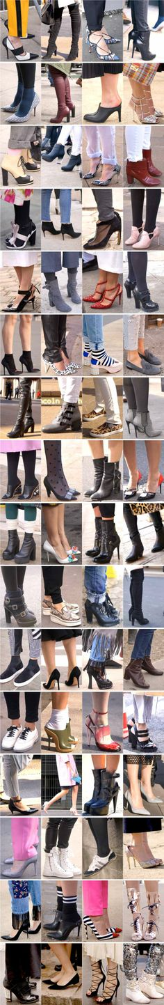 Shop the street style shoes at Fashion Week Fall 2014.