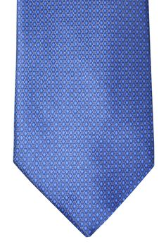 Genuine Ermenegildo Zegna tie with Navy / Royal Blue / Silver diamonds and mini dots design