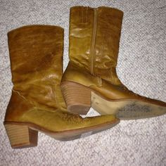 Boots Light brown worn a couple of times. Made in Spain Shoes