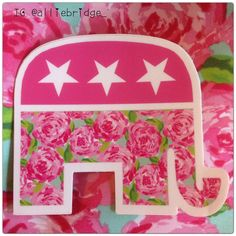 Obsessed with my new republican Lilly Pulitzer car decal