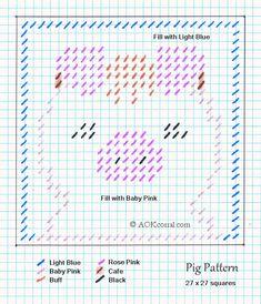 Plastic Canvas Pig Pattern