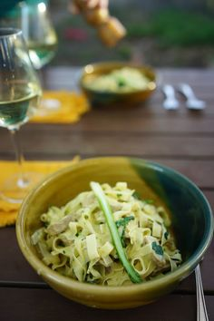 Whittled Down Life: Backyard Carbonara Primavera