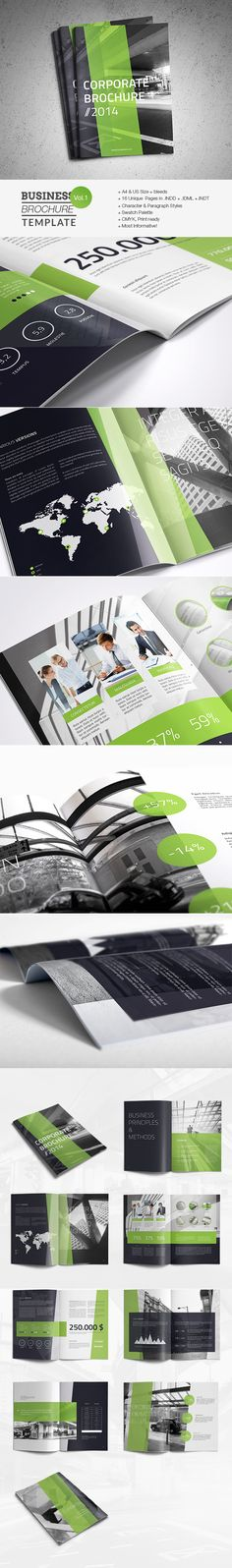 Business Brochure Template by Realstar, via Behance #graphicdesign #print #brochure