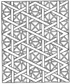 Free printable coloring pages for adults! Geometric patterns, landscapes, Asian images, etc.  http://www.colorpagesformom.com/coloringpages/geometric/