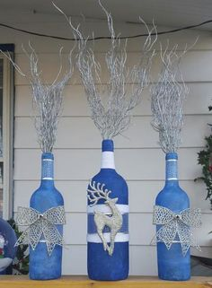 Winter Wine Bottles