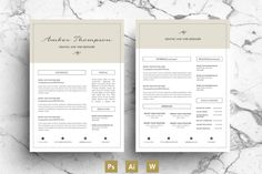 CV / CV Template by Emily's ART Boutique on @creativework247
