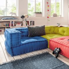 Kindersofa KIDS CUSHION, Sofa Eck Element L, 65x65cm