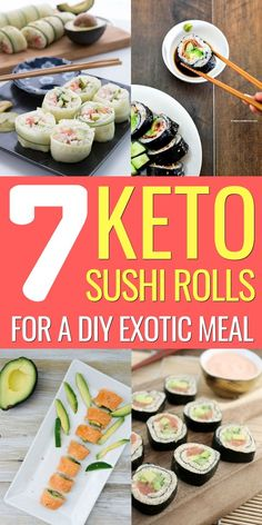 If you think you can't have sushi on a keto diet, think again: these keto sushi rolls are the perfect low carb meal to satisfy your Japanese food cravings. Easy Ketogenic Meal Plan, Keto Meal Plan, Ketogenic Recipes, Low Carb Recipes, Whole Food Recipes, Easy Recipes, Meal Prep, Healthy Recipes, Keto Fat