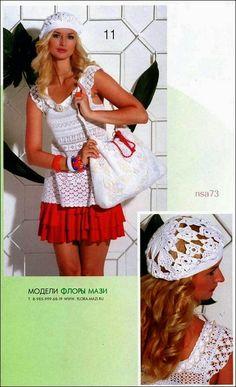 Todo crochet: Un diseño francés para esta blusa y boina