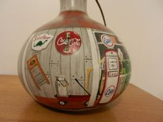 Another side of the Antique store birdhouse gourd. Gourds Birdhouse, Birdhouses, Gourd Crafts, Hand Painted Gourds, Fairy Homes, Gourd Art, Antique Stores, All Art, Painted Rocks