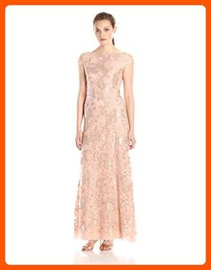 Vera Wang Women's Cap Sleeve Sequin Lace Gown, Rose Gold, 14 - All about women (*Amazon Partner-Link)